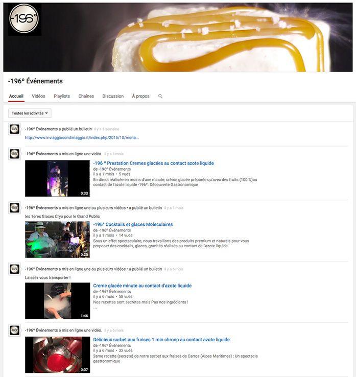 chaine youtube -196 evenements