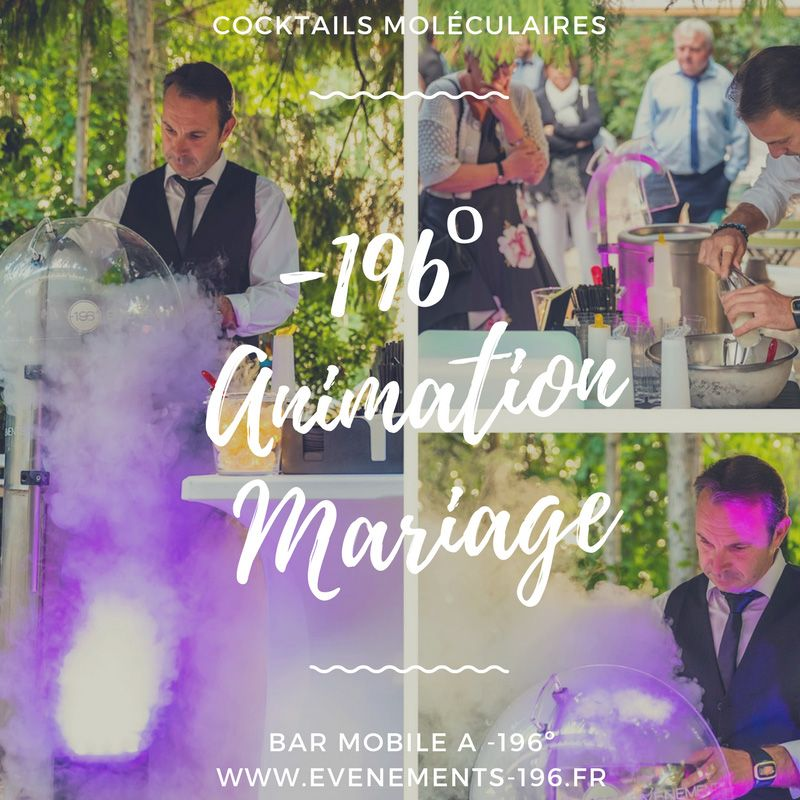 Animation mariage bar moléculaire