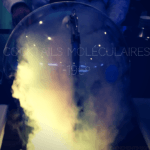 Vidéo animation moléculaire hologramme