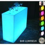 Location Bar lumineux et hologramme 3D