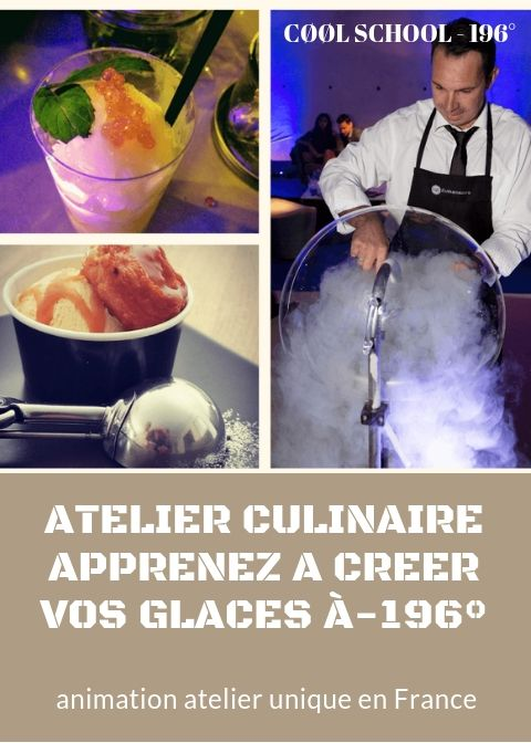 atelier culinaire glaces azote liquide